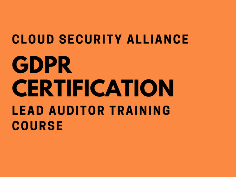 Join me for the Cloud Security Alliance GDPR Certification
